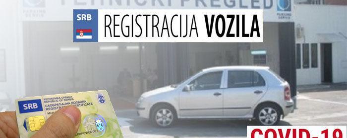 registracija vozila i prenos u doba korone